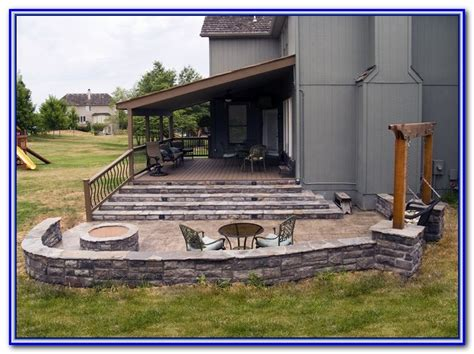 wood deck concrete patio wood deck concrete steps decks home decorating