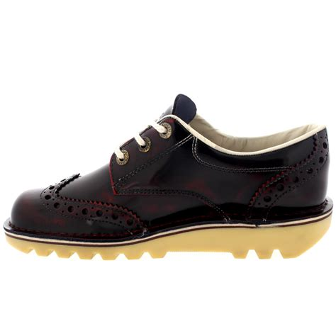 Sepatu Kickers Brogue Casual 2 mens kickers kick lo brogue shiny leather lace up smart work office shoe uk 6 12 ebay