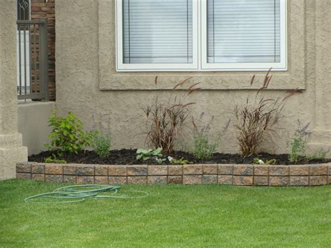 Small Garden Retaining Wall Small Retaining Wall Jjs Landscaping Saskatoon