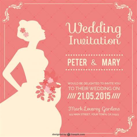 wedding invitation freepik vintage wedding invitation vector free