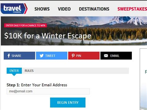Travel Channel Com Sweepstakes - travel channel s winter escape sweepstakes