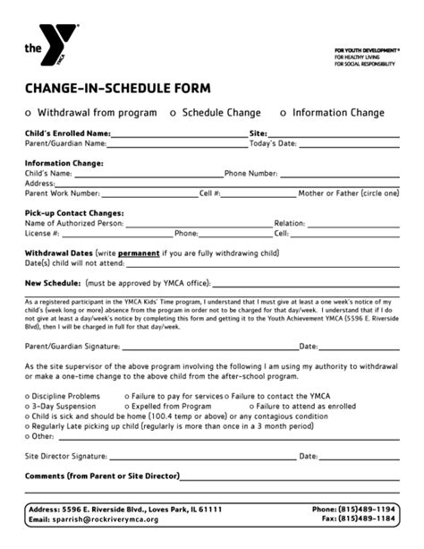 Ymca Application Form 2017 For Mba by The Ymca Of Rock River Valley Registration