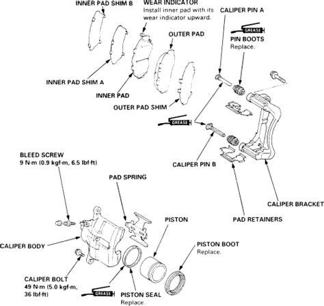 book repair manual 2006 honda odyssey parking system repair guides disc brakes brake caliper autozone com