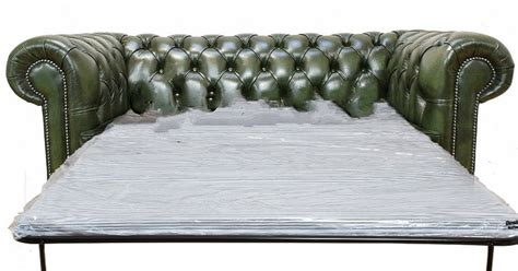 Chesterfield 3 Seater Settee Sofa Bed Antique Green Antique Sofa Beds