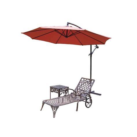 lawn chaise oakland living mississippi cast aluminum 2 piece patio