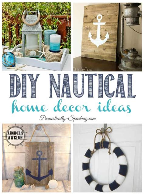 nautical decor for home diy nautical home decor friday features domestically