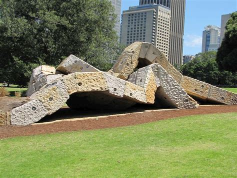 Garden Rocks Sydney Wurrungwuri Royal Botanic Garden Sydney Australia Abstract Sculptures On