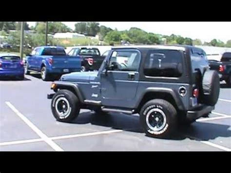 Top Jeep For Sale For Sale 2002 Jeep Wrangler Sport Top Stk P6837 Www