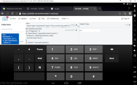 html format numeric input html make input type quot password quot use number pad on mobile