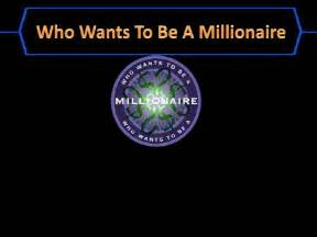 who wants to be a millionaire template