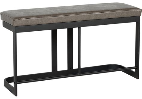 tall bench jansen gray counter height bench benches colors