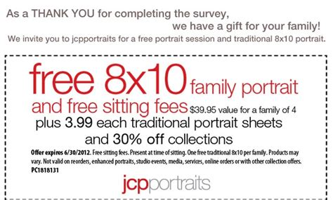 jcpenney portrait printable coupons no sitting fee pin by jessica lawson on girls pinterest
