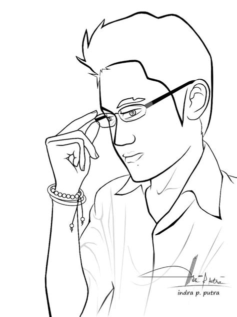 free coloring pages of man