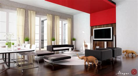 living room designing 28 red and white living rooms
