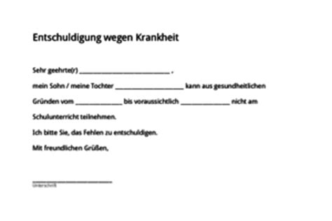 Entschuldigung Schreiben Muster Schule Schulkreis De Entschuldigung F 252 R Die Schule
