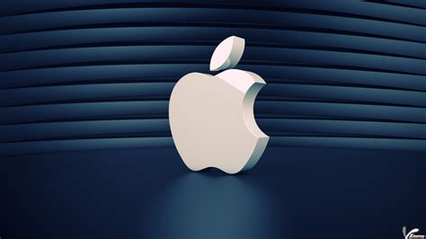 wallpaper for pc app a beautiful white 3d apple logo wallpaper