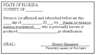 notary section what is an acknowledgment or oath or affirmation on my