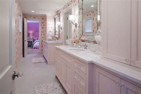 girls bathroom videos pink cabinets traditional bathroom benjamin moore
