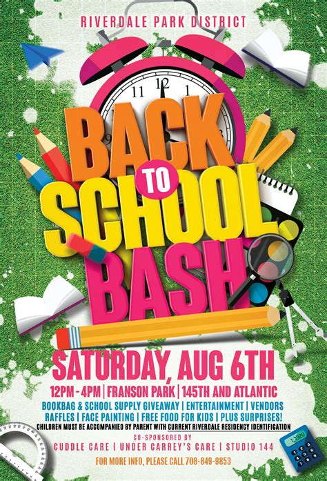 Riverdale Park District Back To School Bash Flyer 4x6 Page 001 Riverdale Park District Back To School Bash Flyer Template Free