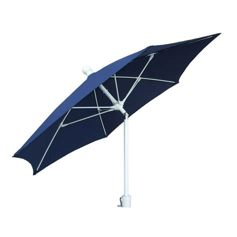 Patio Sun Umbrellas Fiberbuilt Umbrellas 9 Ft Patio Umbrella In Navy Blue 9hcrw T Nb The Home Depot