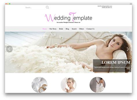 30 beautiful responsive free wedding wordpress themes