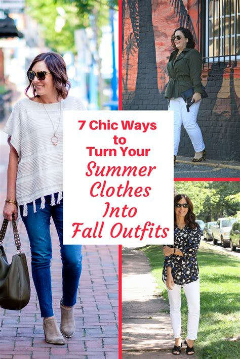7 Ideas To Convert Summer Clothes To Fall 7 chic ways to turn your summer clothes into fall