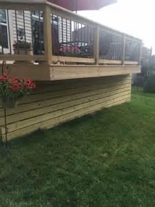 horizontal wood deck skirting batavia oh area modern deck cincinnati by thomas decks llc