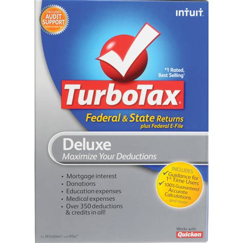 Intuit Gift Cards - intuit turbotax deluxe software federal state 414644 b h photo