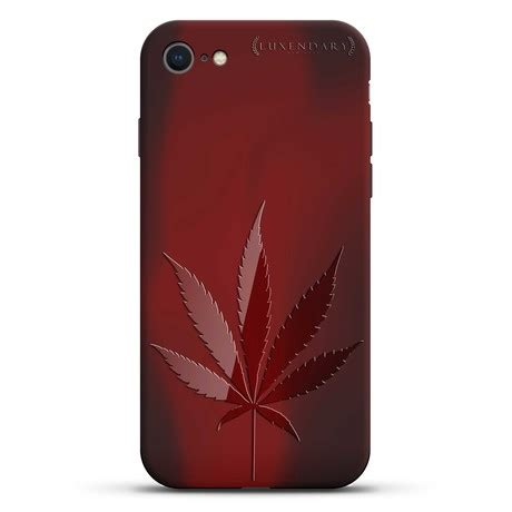 marijuana leaf case screen protector iphone  luxendary touch  modern