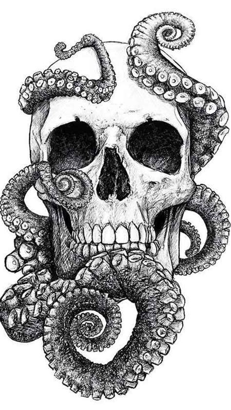 skull octopus tattoo skull and octopus design shortlist