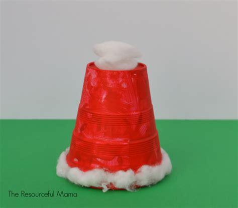 santa made from styrofoam cup styrofoam cup santa hat kid craft the resourceful
