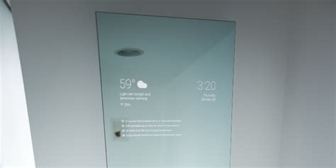 this android powered mirror is basically the future