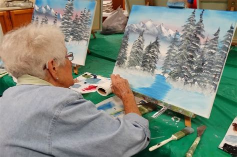 bob ross painting classes in utah winter ranch activities bob ross class with larry weirs