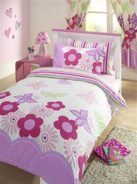 Matching Comforter And Curtain Sets by New Girls Butterfly Bedding Set Duvet Cover Sets And Or
