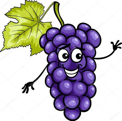 imagenes de uvas vector frutas uvas azul divertidos dibujos animados ilustraci 243 n