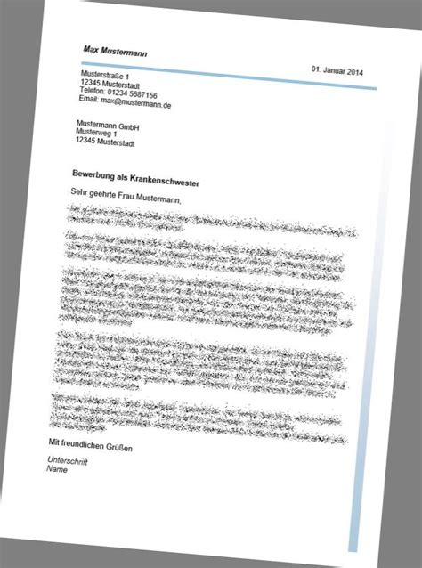 Anschreiben Bewerbung Zahntechniker Das Bewerbungspaket F 252 R Die Krankenschwester Pfleger
