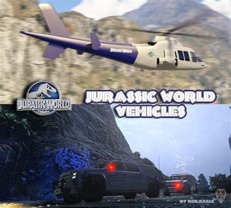 jurassic world the game mod 1 5 17 jurassic world vehicles gta5 mods com