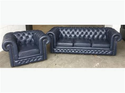 blue chesterfield leather sofa blue chesterfield leather sofa set we deliver uk outside