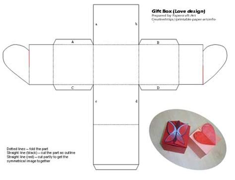 Origami Gift Box Template - small box printable 2011 calendar indesign printable form