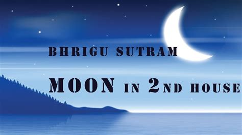 Moon In 2nd House by Bhrigu Sutram Moon In 2nd House