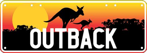 outback number outback australia number plate