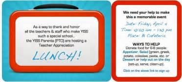 teacher appreciation lunch invitation template