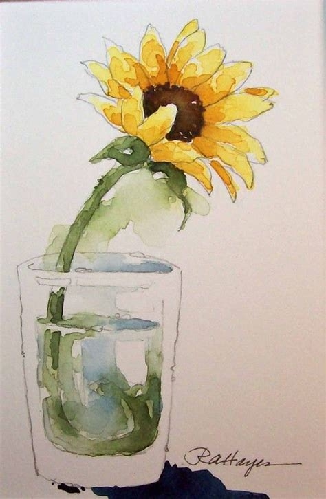 watercolor tutorial sunflowers 491 best sunflower images on pinterest water colors