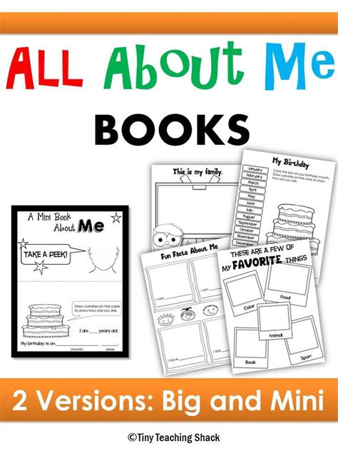 all about me picture books day of school all about me books 2 options