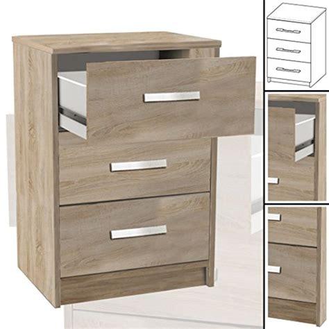 Nachttisch Sonoma Eiche by Nachttisch 127 Sonoma Eiche 3x Schublade Holz