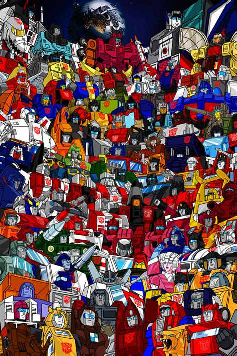 transformers g1 g1 autobots roster poster tfw2005 com