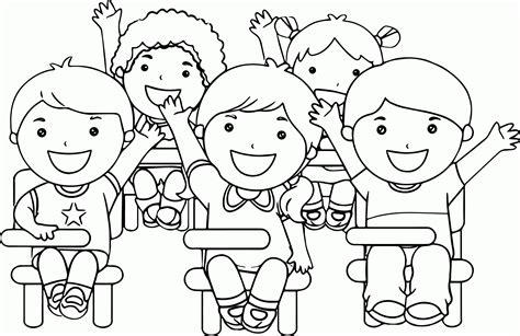 child at school coloring page az coloring pages