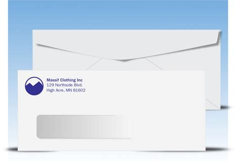 standard window envelope template 10 window envelopes and 9 window envelopes plain or