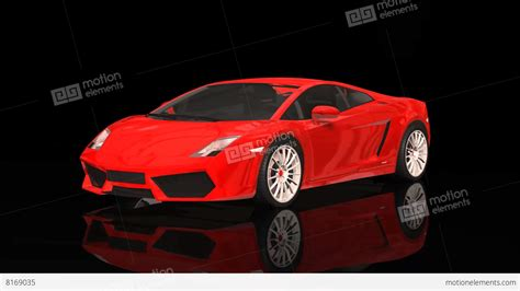car lamborghini red luxury sport car lamborghini red color moving rotation
