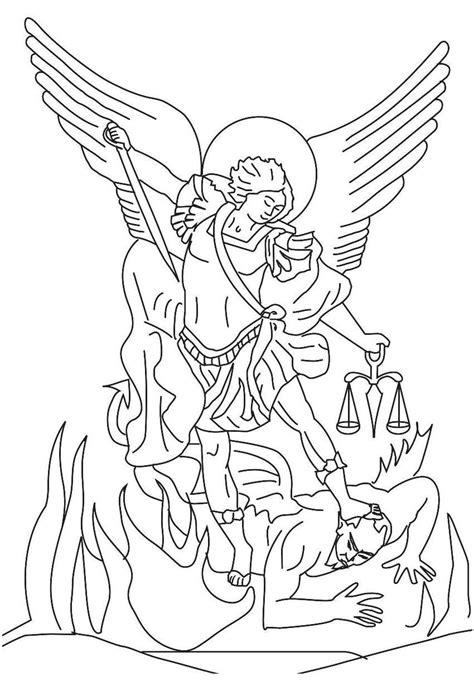 archangel coloring page st michael archangel saint michael the archangel
